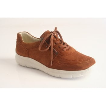 Waldlaufer style 'Leonie' cognac suede leather lace up (NT45)