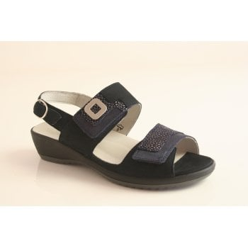 Waldlaufer Walflaufer Style Ginger navy blue sandal